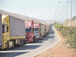 صفهای کامیون در مرز