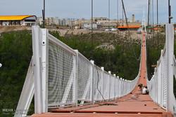 تقرير مصور عن تشييد اعلى جسر معلق في الشرق الاوسط بمحافظة اردبيل
