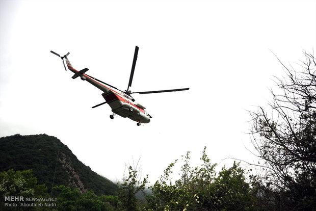 اعزام بالگرد و پهپاد برای خاموش کردن آتش در منطقه کوهسیاه دشتی