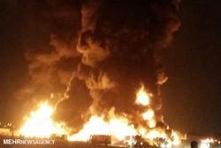 فاز ۱۵ عسلویه دچار آتشسوزی شد
