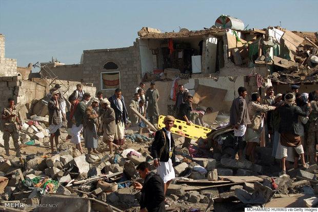 ادامه بمباران مناطق مسکونی یمن