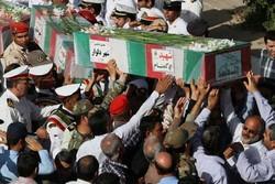 پیکر پاک ۲ شهید گمنام در خوی خاکسپاری شد