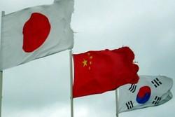 پرچم چین، کره جنوبی و ژاپن