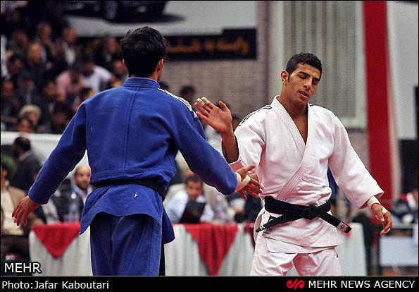 لاعب الجودو الايراني سعيد ملائي يتقلد الميدالية البرونزية