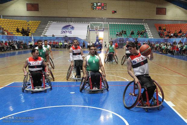 فینال رقابت های بسکتبال با ویلچر اصفهان