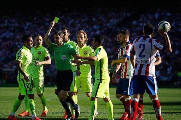 دیدار تیم های اتلتیکو مادرید و بارسلونا