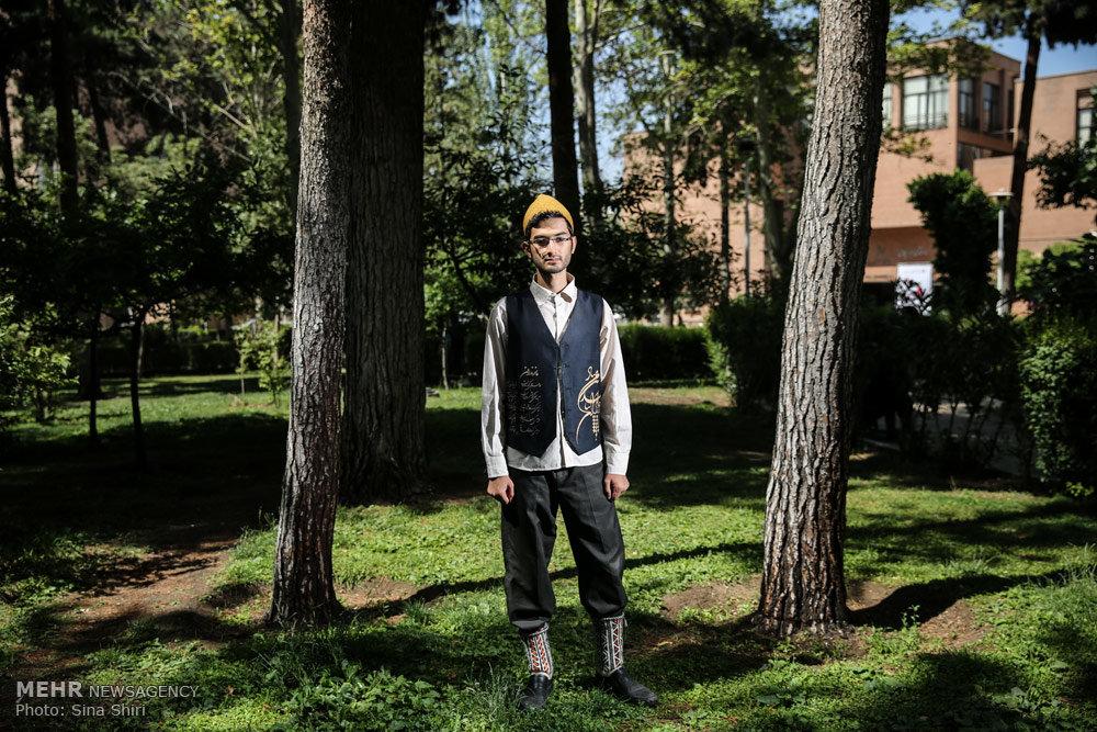 تصاویر لباس محلی بر تن دانشجویان دانشگاه صنعتی شریف