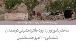 بررسی پدیده حاشیه نشینی در استانهای کشور۵۷ /همدان