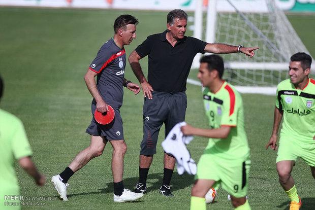 تمرینات تیم ملی در ورزشگاه دستگردی