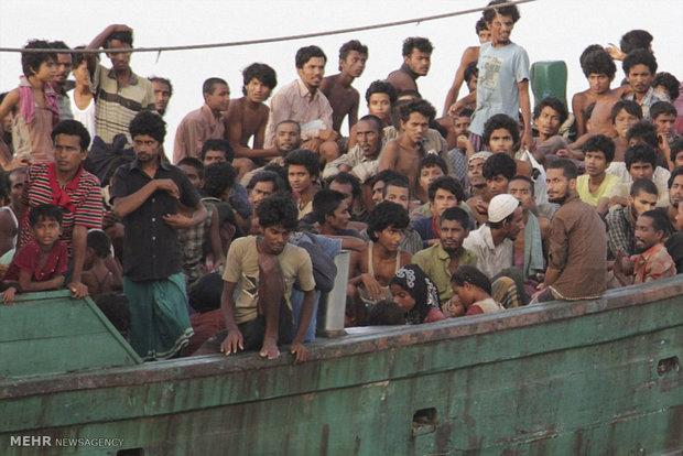 نجات بیش از 700 مهاجر در سواحل غربی میانمار