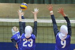 """فريق """" بانك سرماية"""" الايراني للكرة الطائرة للسيدات يحقق فوزه الأول في البطولة الآسيوية للأندية"""