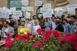 تجمع اعتراض آمیز دانشجویان نسبت به روند مذاکرات هسته ایی