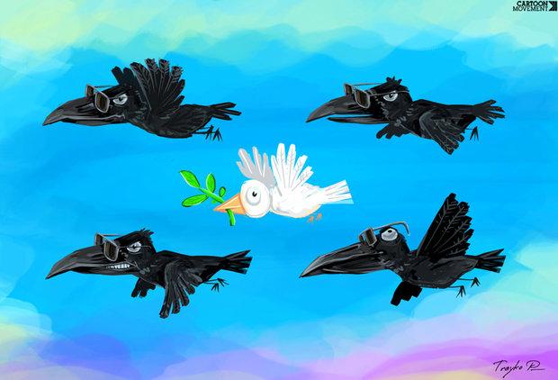 كاريكاتير: حراس السلام