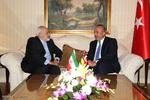 دیدار وزیر امور خارجه ترکیه با دکتر ظریف وزیر امور خارجه