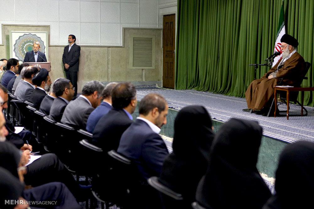 دیدار نمایندگان مجلس شورای اسلامی با رهبر انقلاب