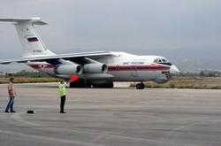 وصول طائرة مساعدات روسية إلى مطار باسل الأسد باللاذقية