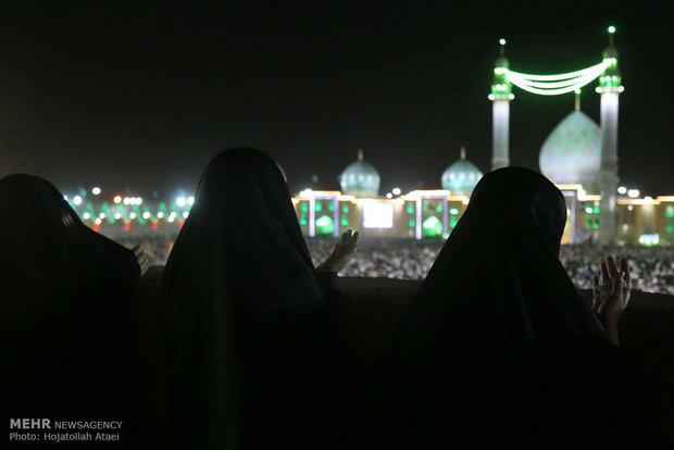 مسجد مقدس جمکران در شب میلاد امام زمان (عج)