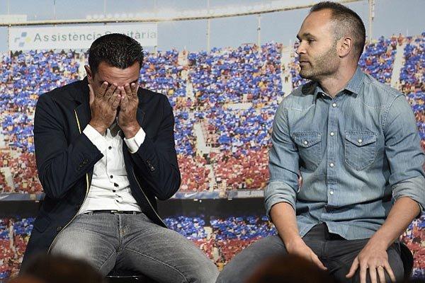 مراسم تقدیر باشگاه بارسلونا از ژاوی