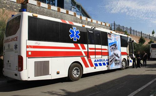 استقرار یک دستگاه اتوبوس آمبولانس در کرج/ تشریح اقدامات اورژانس