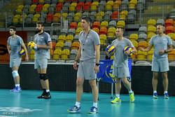 ایران کی قومی والیبال  ٹیم کی تمرین