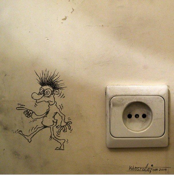 كاريكاتير فنان ايراني مجيد خسرو أنجم