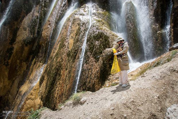 حملة نظافة البيئة - شلال مارجون في محافظة فارس