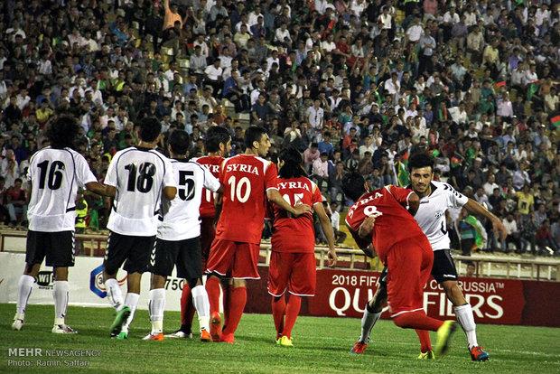 مباراة سوريا وافغانستان في مدينة مشهد