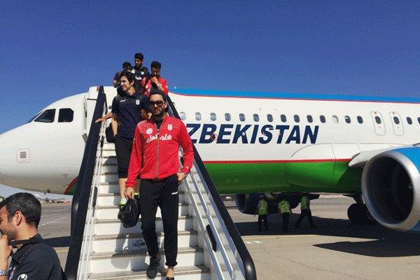 ورود تیم ملی فوتبال ایران به ازبکستان