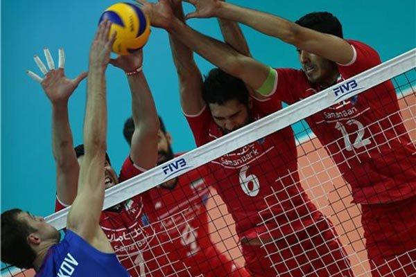 دیدار تیم های ملی والیبال روسیه و ایران