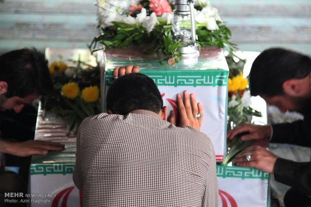 مراسم وداع با شهدای غواص