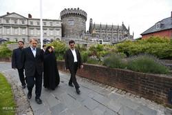 بازدید علی لاریجانی رئیس مجلس از محوطه قلعه دوبلین