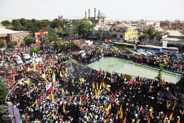 تہران میں دفاع مقدس کے  275 شہیدوں  کی تشییع جنازہ