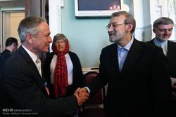 لقاءات رئيس مجلس الشورى الاسلامي في ايرلندا