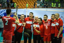 ایران اور امریکہ کی قومی والیبال ٹیموں کے درمیان مقابلہ