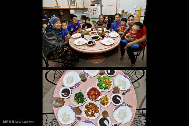 سفره افطاری مسلمانان در کشور مختلف