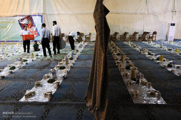 ضیافت افطاری در حرم حضرت عبدالعظیم الحسنس (ع9