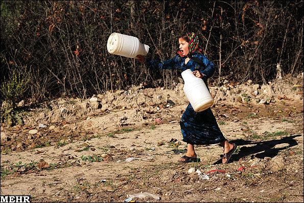 کمبود آب شرب در روستای میغان