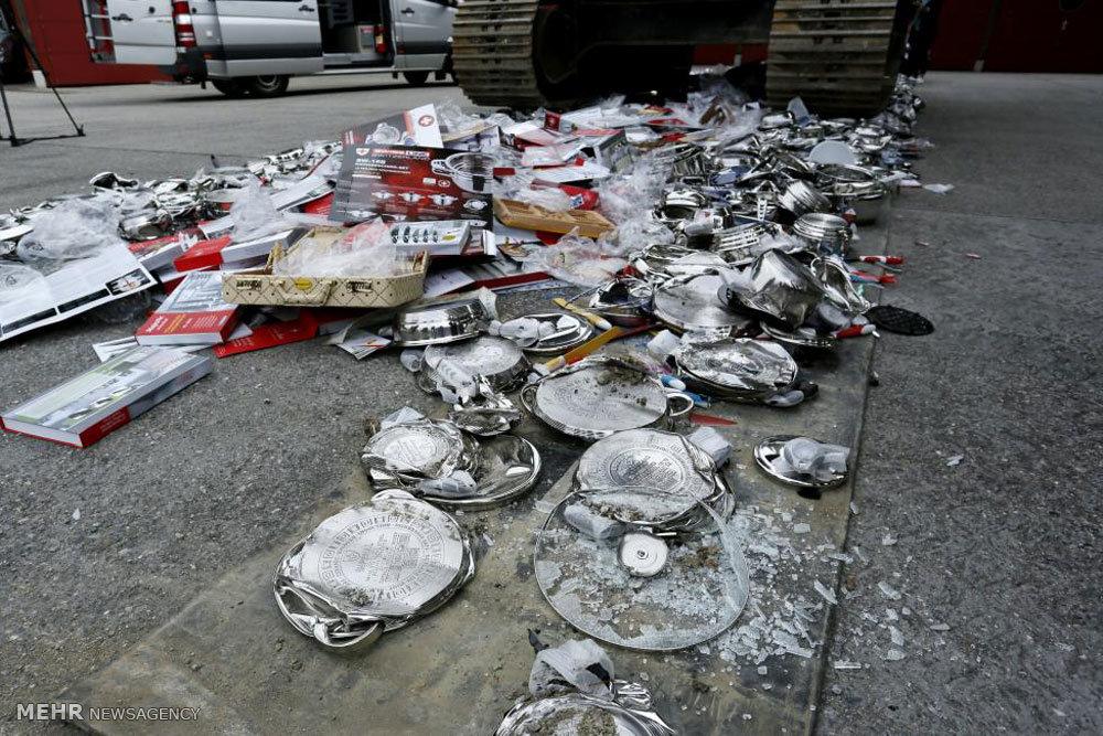 انهدام کالاهای تقلبی در سوئیس