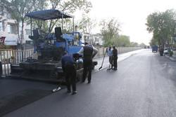 بخشی ازتعریض خیابان اول شهرک کارمندان زنجان آماده آسفالت ریزی است