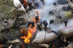 اراک میں 1300 کلو گرام منشیات کو جلادیا گیا