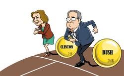ہیلری کلنٹن اور جب بش کا صدارتی انتخابات میں مقابلہ
