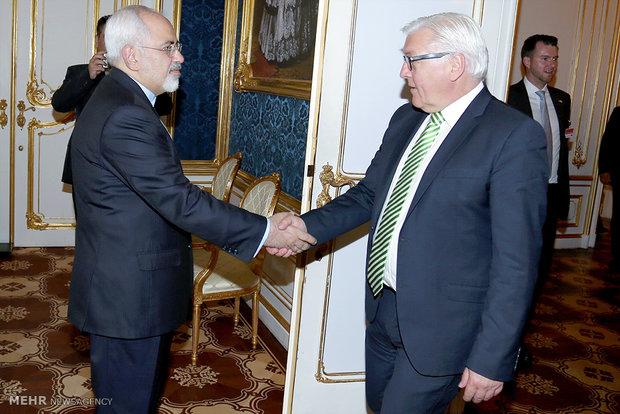 دیدار اشتاین مایر وزیرخارجه آلمان و محمد جواد ظریف