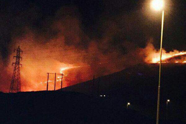آتش سوزی آبیدر سنندج مهار شد/مردم پیشگام در مهار آتش