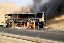 بسیاری از ساختمانها و اتوبوسها در برابر آتش مقاوم نیست