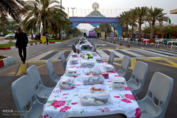 طولانیترین سفره افطار کشور در کیش