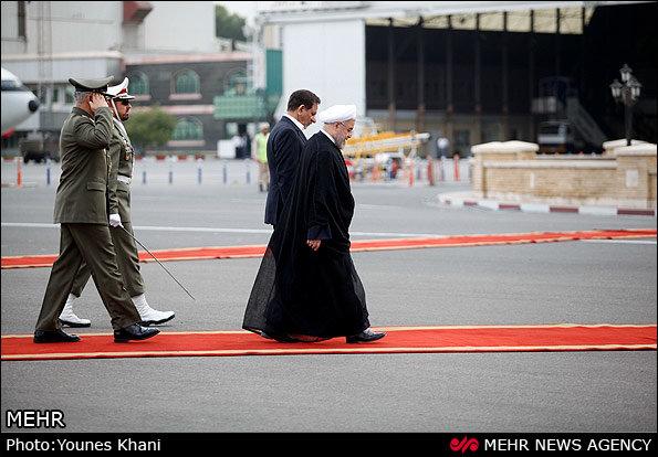 روحانی وارد «اوفا» در روسیه شد