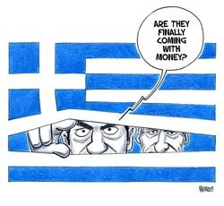 کارٹون کی زبانی یونان اور یورپی یونین کے درمیان چيلنجز
