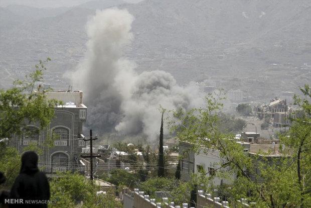 سعودیہ کی یمن کے صوبہ مآرب کے مختلف علاقوں پر بمباری