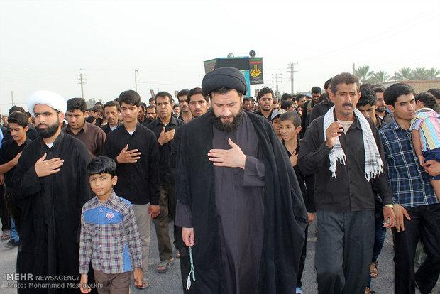 مراسم عزاداری شهادت حضرت علی(ع) در هشت بندی هرمزگان