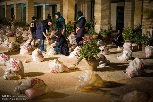 اغاثة العوائل المحرومة في ليلة استشهاد اميرالمؤمنين